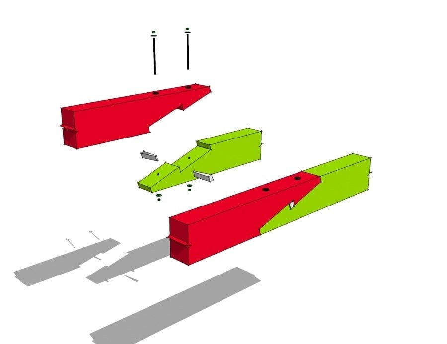 Scarf Joint with Wedge Steel