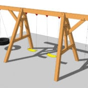 timber frame swing set plan