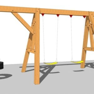 timber frame wooden swing set