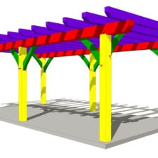12x24-timber-frame-pergola-plan-isometric