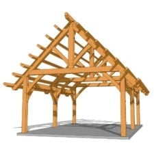 16x24 King Post Truss Plan