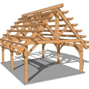 18x24 Timber Frame Plan
