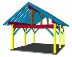 16x18 Timber Frame