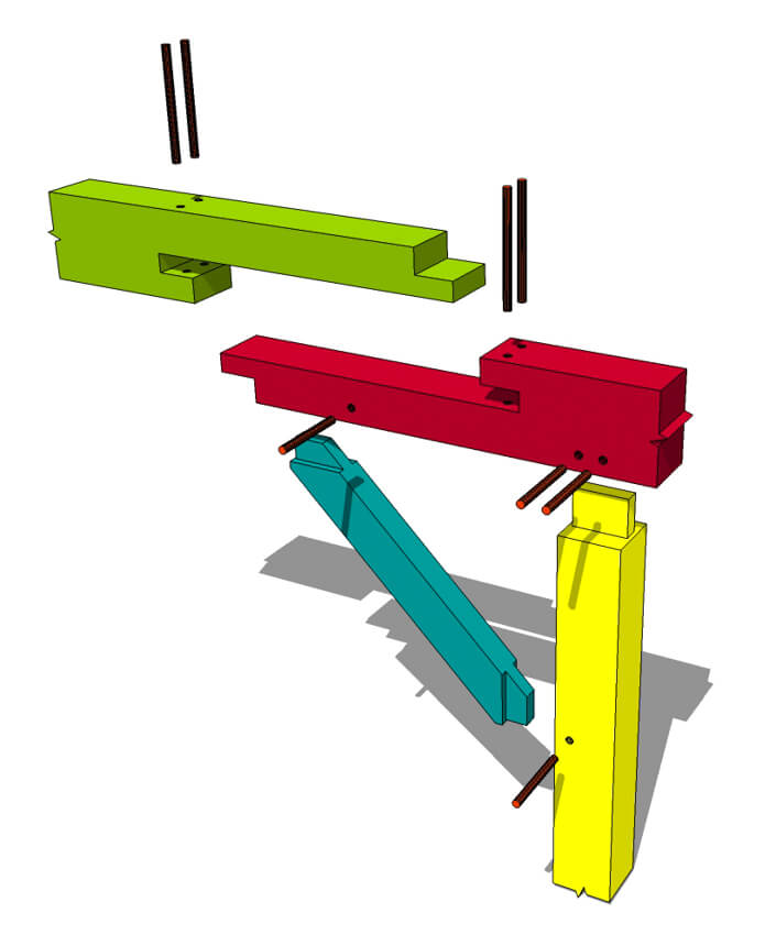 Pegged Bladed Scarf Joint Timber Frame Hq