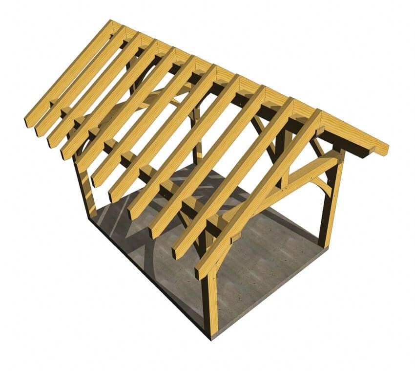 12x16 timber frame plan timber frame hq for Timber frame plans for sale