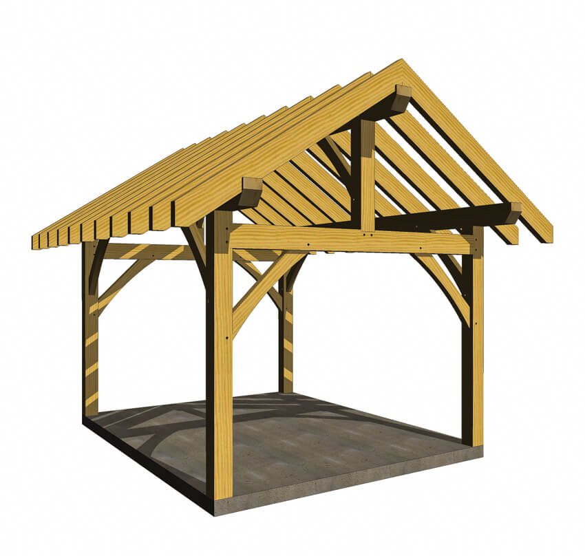 12x16 Post and Beam Pavilion