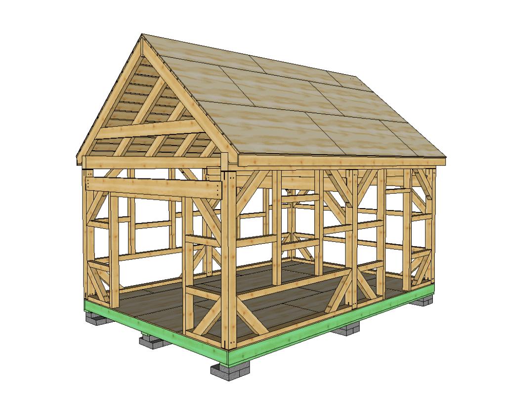 14x20 Heavy Timber T-Rex