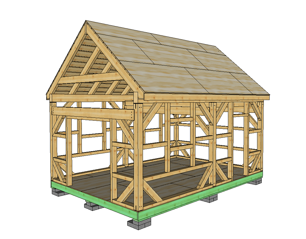 14x20 T Rex Post And Beam Workshop Timber Frame Hq