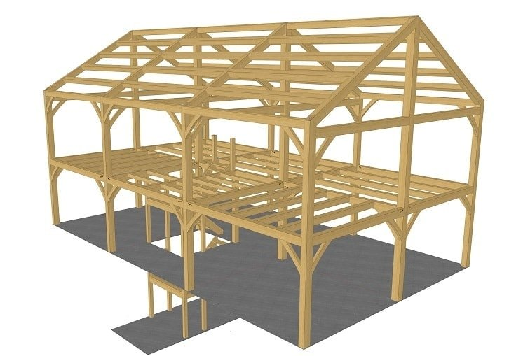 30x50 New Englander Timber Frame