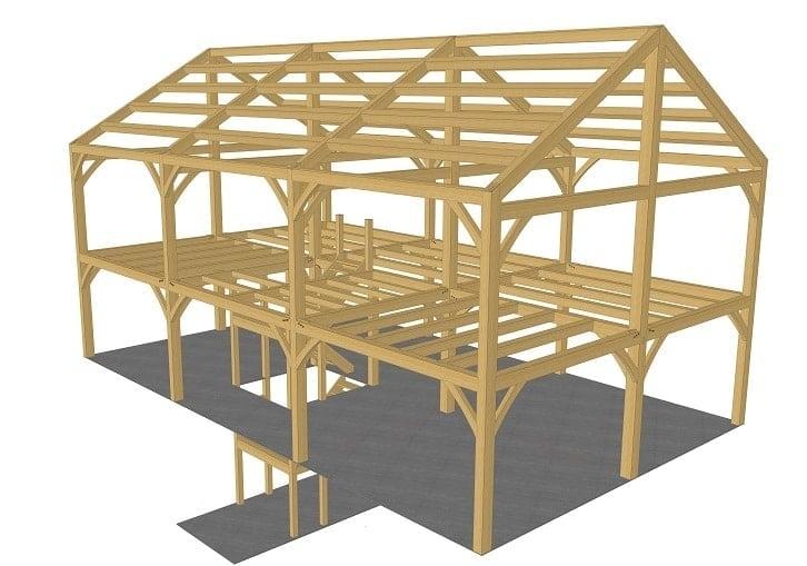 30x50 New Englander Timber Frame