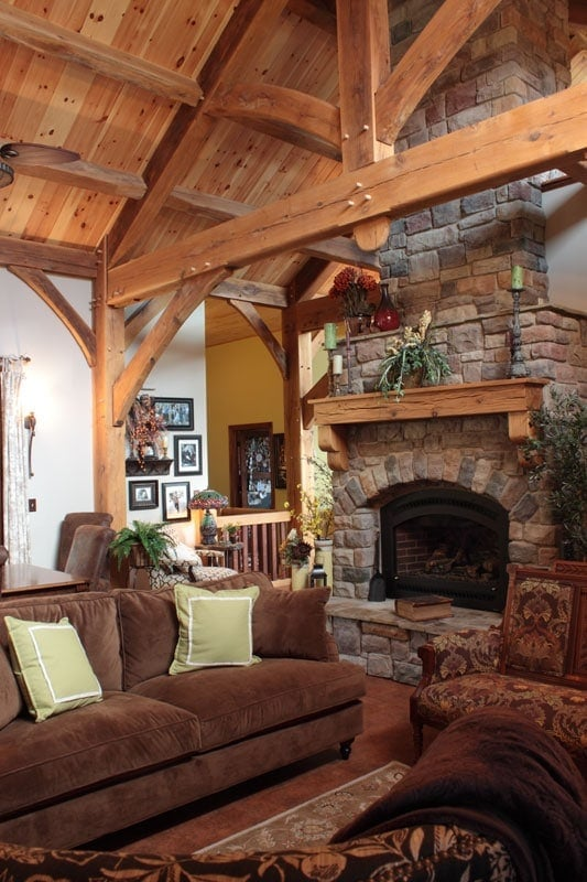 Clydesdale Frames Cozy Great Room