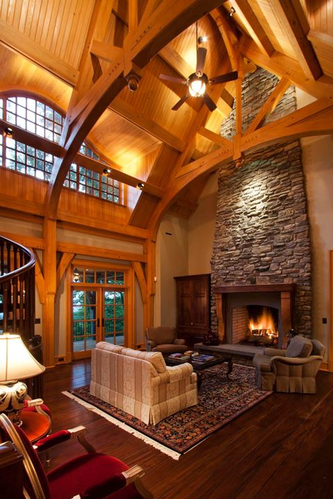 Inside a Timber Frame Home