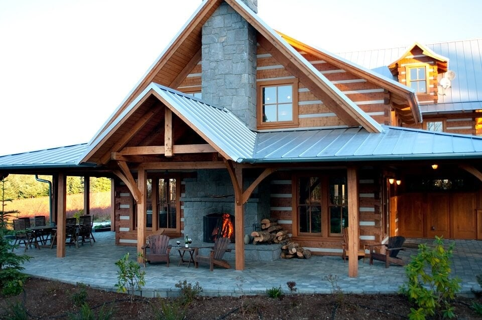 StoneMill Log & Timber Homes project
