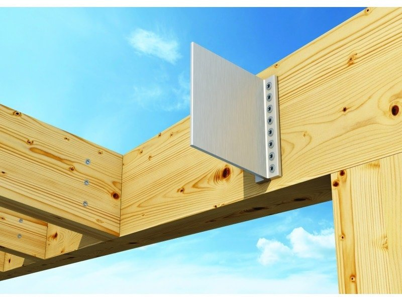 Alumini concealed beam connector timber frame hq