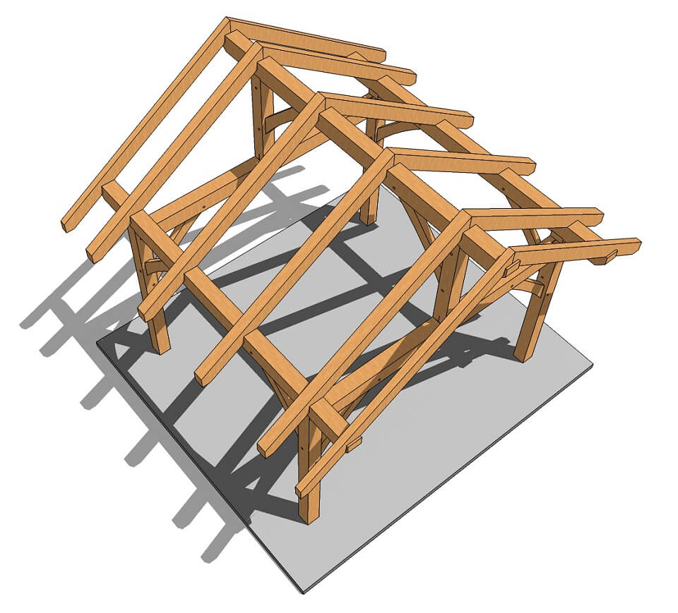14x14 Post And Beam Plan Timber Frame Hq