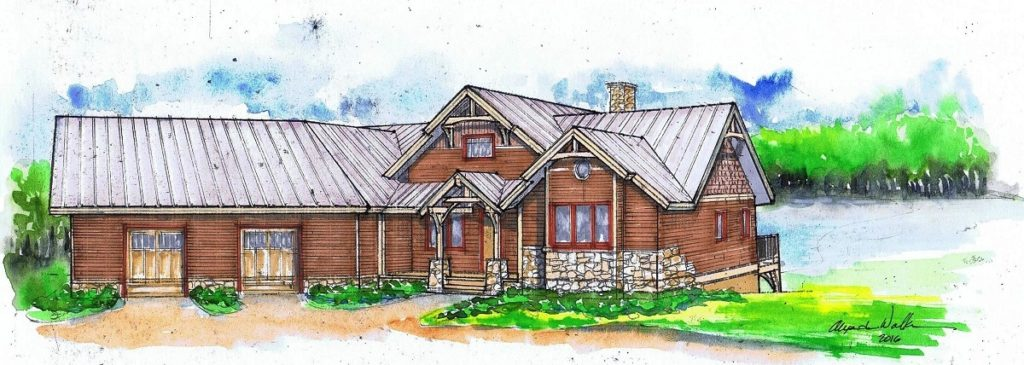Blue Hole Falls Timber Frame Home