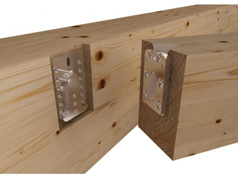 Uv t concealed hook connector timber frame hq