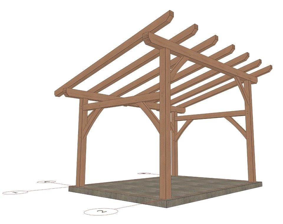 12x16 Shed Roof Plan - Timber Frame HQ