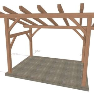 12x16 Shed Roof Front