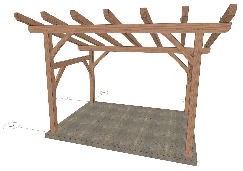 Timber Frame Pergola Plans - Timber Frame HQ