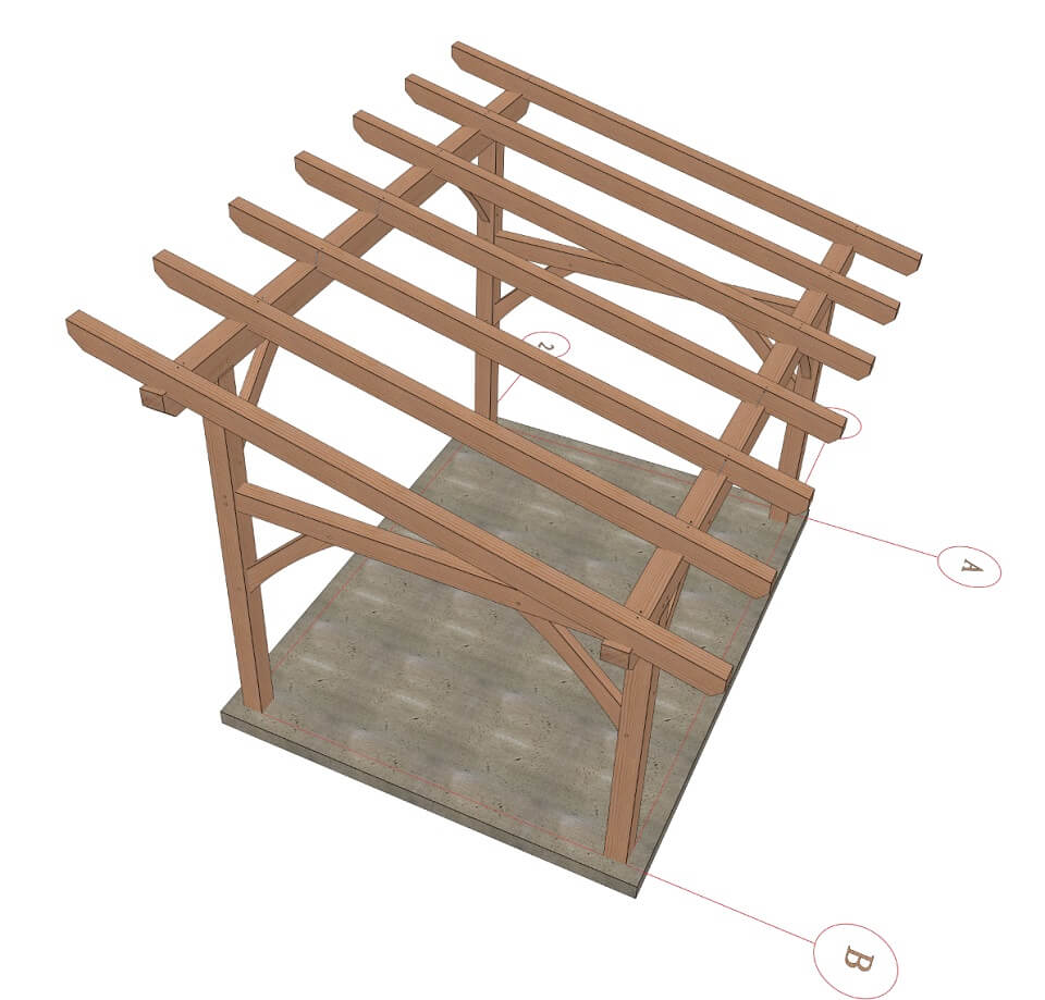12x16 Shed Roof Plan Timber Frame Hq