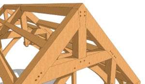 16x24 Hammer Beam Plan Ridge truss pic
