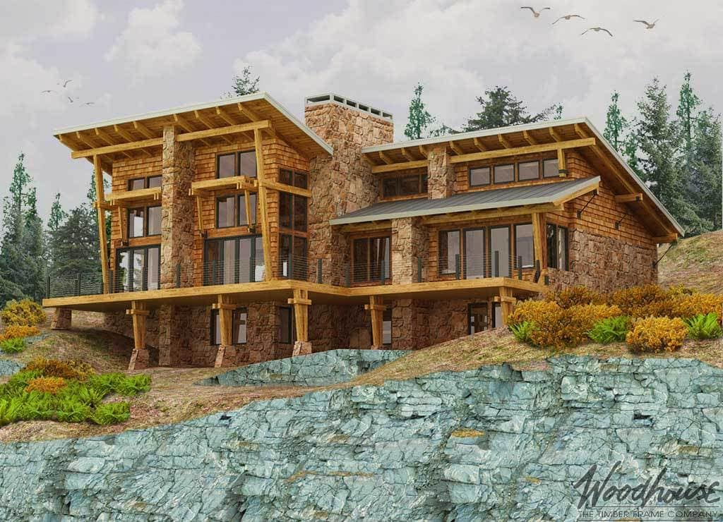 Woodhouse Tumalo Modern Timber Frame Homes
