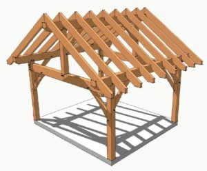 14x16 Post and Beam Plan