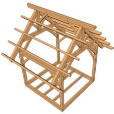 10x10 King Post Truss Frame (3 of 6)