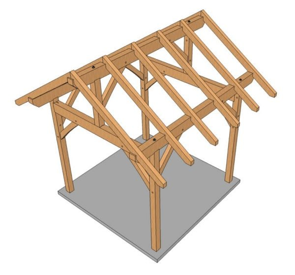 10x10 Post and Beam Plan (3 of 5)