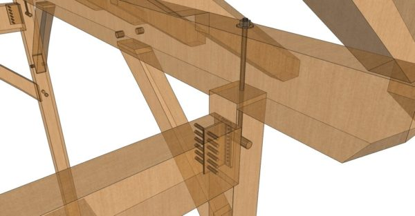 10x10 King Post – Post and Beam Plan connectors
