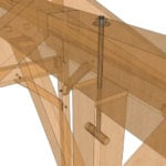 10x10 King Post – Post and Beam Plan Transparent Closeup