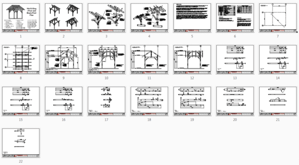 Plan Overview - 10x10 King Post – Post and Beam Plan