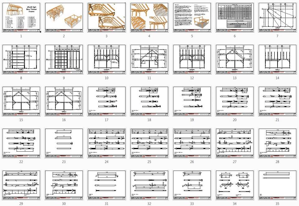 28x20 Saltbox Plan Overview