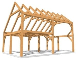 28x20 Saltbox Timber Frame Plan