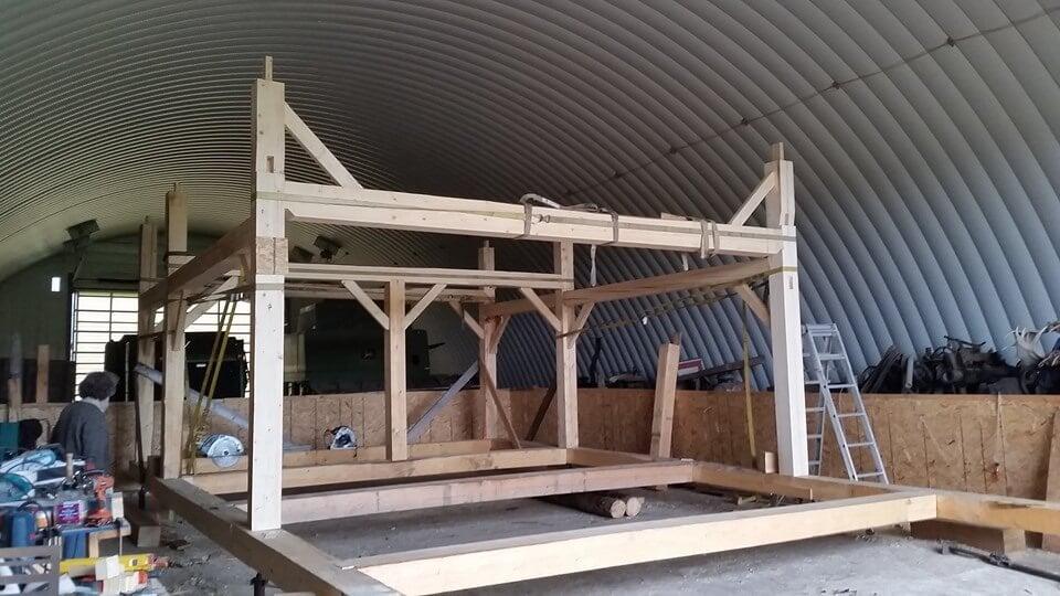 Alaskan timber frame