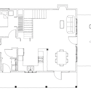 Tugaloo Cabin First Floor Plan