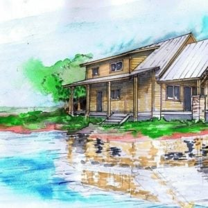 Tugaloo Cabin Color Rendering