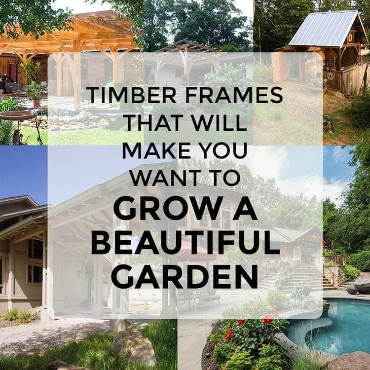 Timber frames to grow a garden