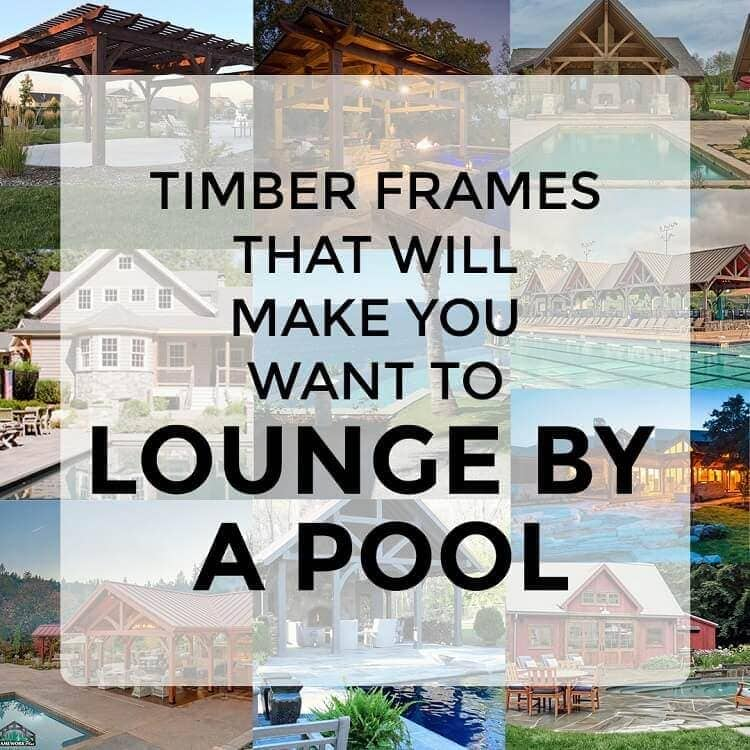 Timber frames lounge by pool