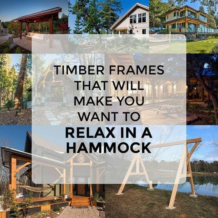 Timber frames relax in hammock