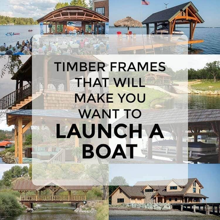 Timber frames launch a boat