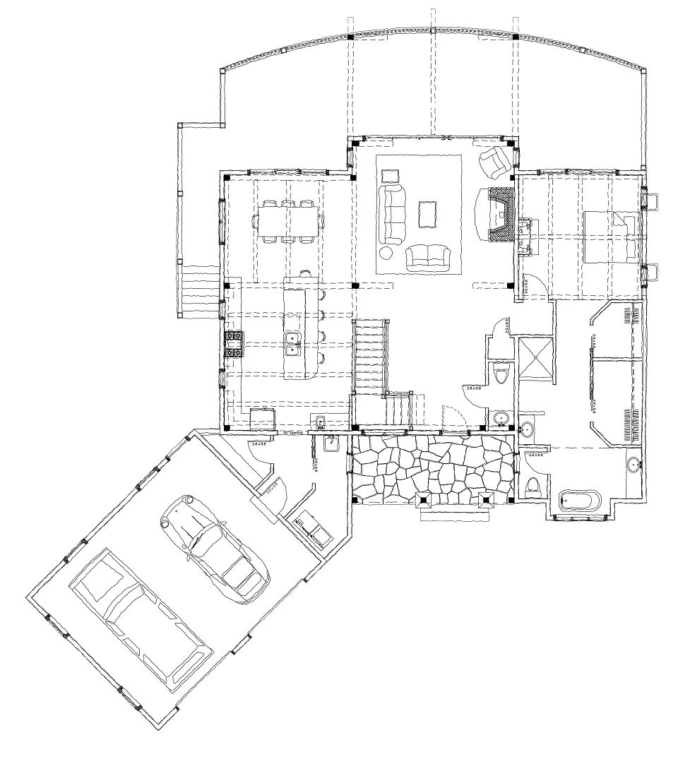blue hole falls house plan timber frame hq House Trim Diagram