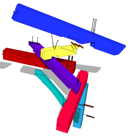 3D Drawing of a Dragon Beam with a Tie Beam