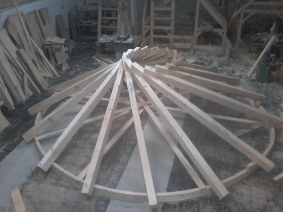Bench Works Reciprocal Roof Gazebo Timber Frame Hq