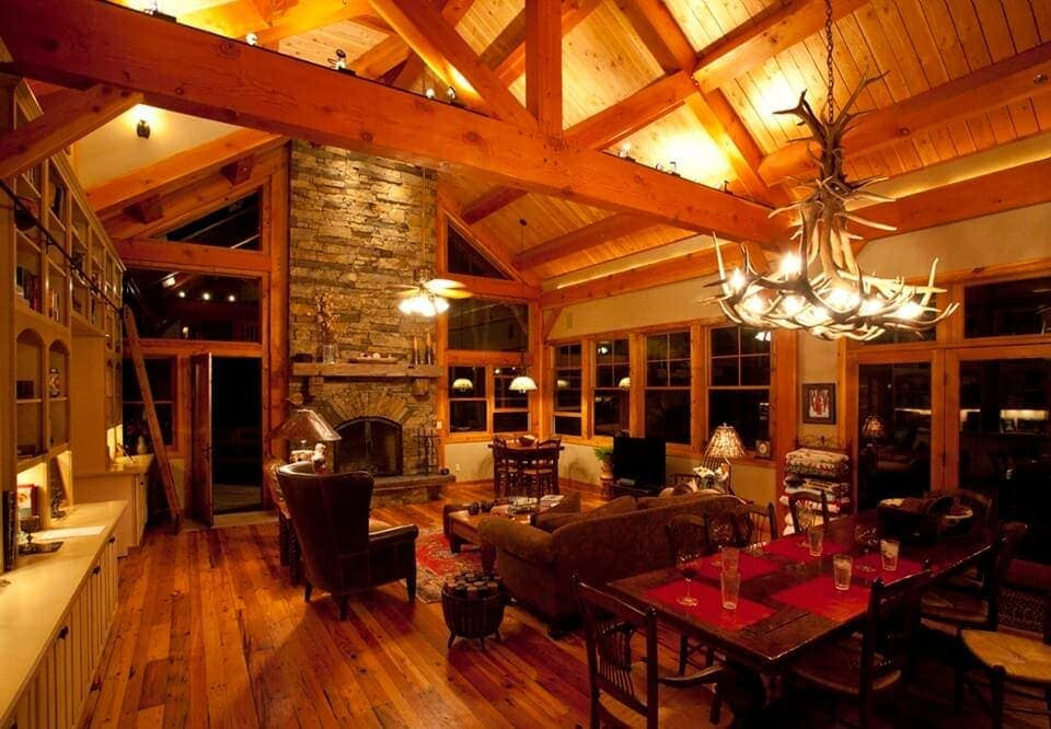 Texas TImber Frames Snuggle by a Fire