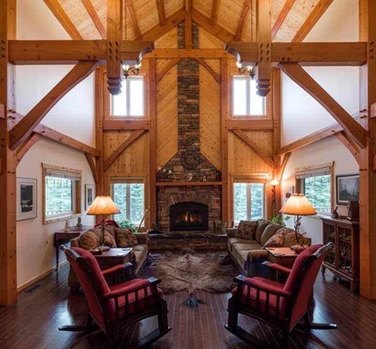 Timber Green B&B fireplace roast marshmallows