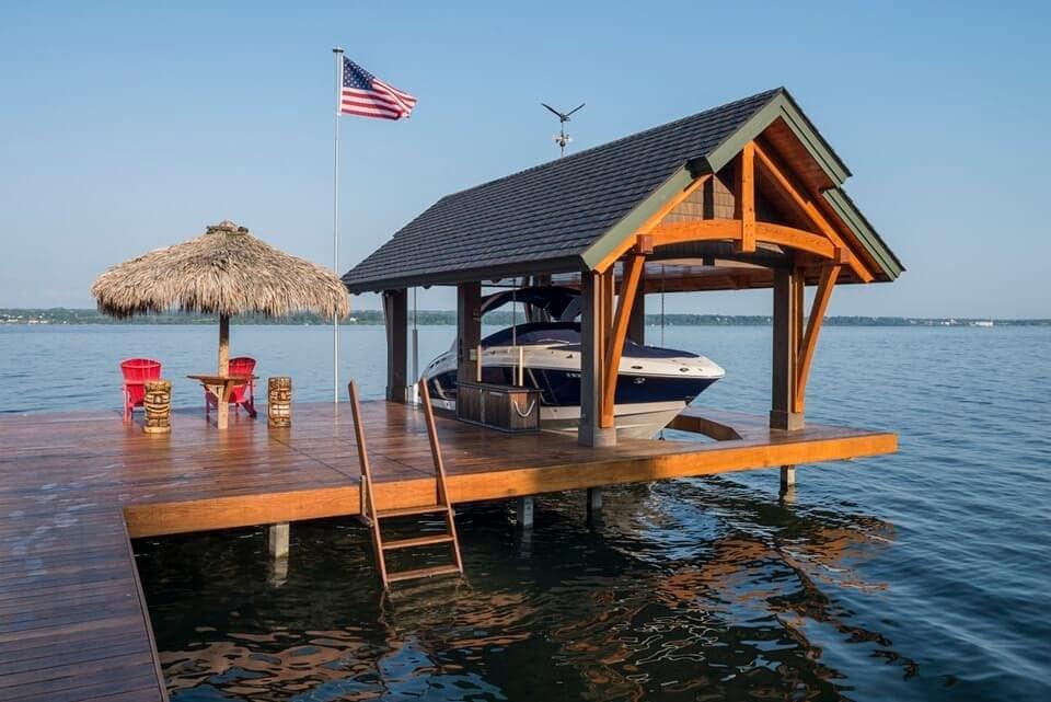timber frame boat shelter new energy works
