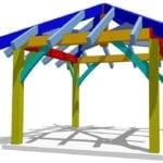 12x12 Gazebo Plan Eye Level View