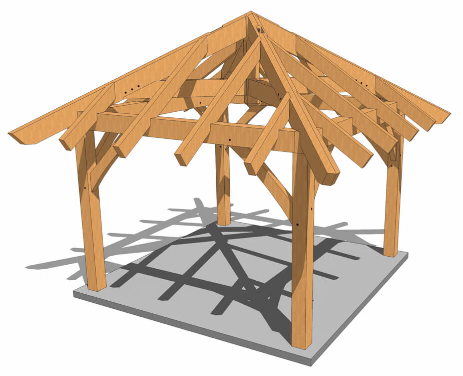 12x12 Timber Frame Gazebo Plan